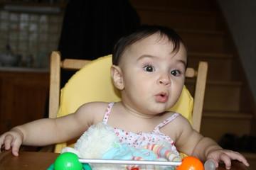 Bébé étonné