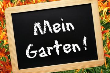 Mein Garten ! - Konzept Tafel mit Blumen