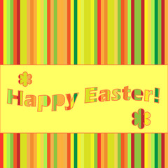 striped easter card