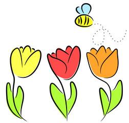 tulpen mit biene