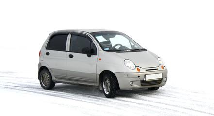 A grey car