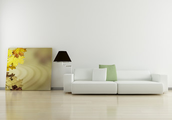 Sofa with paint