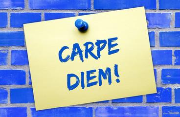 Carpe diem ! - Motivation Concept