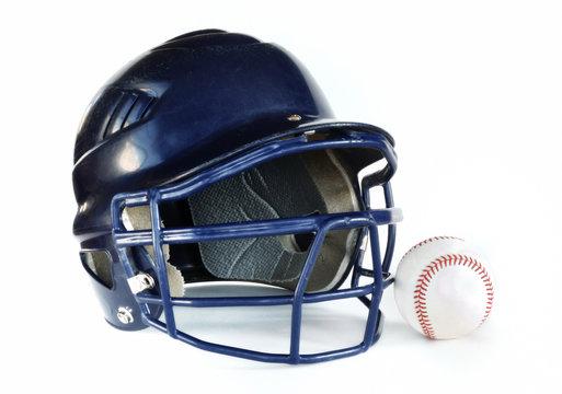 Helmet and Baseball