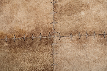 High resolution stiched suede leather texture