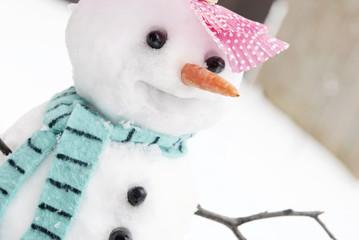 Cute Snowman Closeup