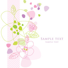 Floral card with copy space