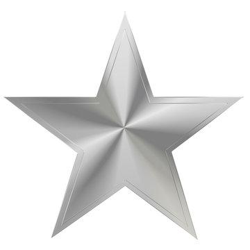 silver star in line