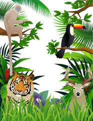 Poster Forest animals animal in the forest