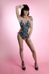 Pinup Swimsuit Model