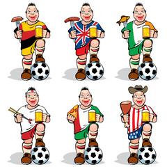 Soccer Fans at sport-bar