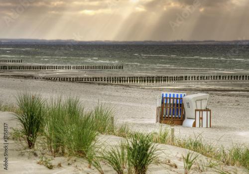 Fototapete Einsamer Strand