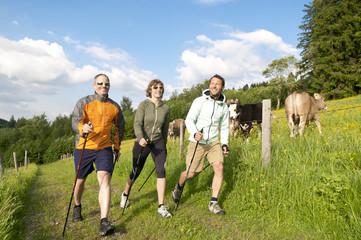 Fototapete - Nordic Walking im Grünen