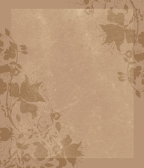 Classical background with floral decorative pattern.