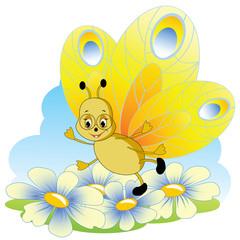 Cartoon butterfly.