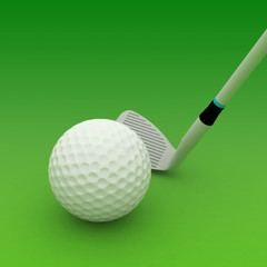 golf club and ball isolated