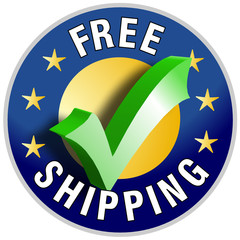 Free Shipping button/label