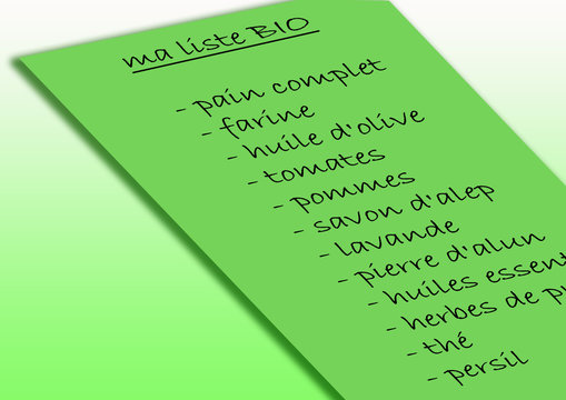 Liste de courses BIO