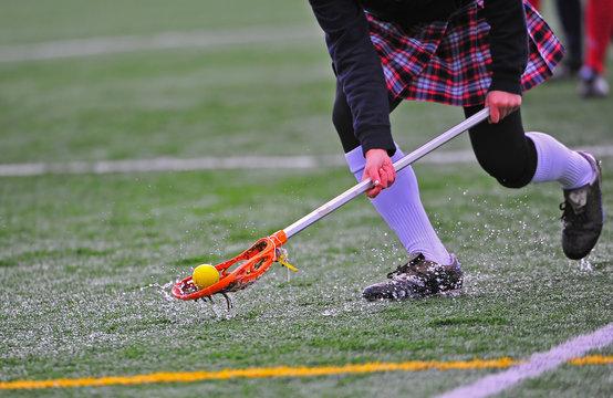 Girls lacrosse ball pick