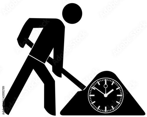 Bauarbeiter zeichnung  Bauarbeiter Uhr