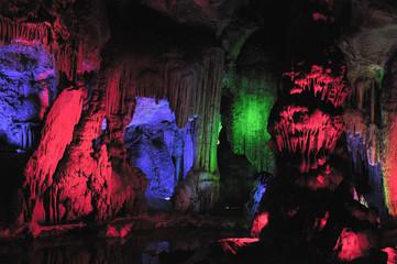 colorful lava cavern