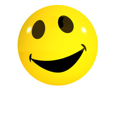 3d Smiley is laughing