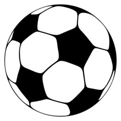 Soccer Ball: black and white
