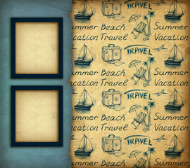 Vacation wallpaper and frame
