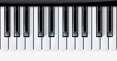 Vector keys piano music instrument. eps10 with transparency