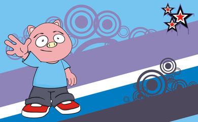 pig  kid cartoon background9