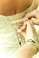 Wedding dress corset. wedding day