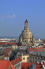 Frauenkirche über der Stadt