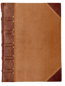 Blank cover of a vintage book