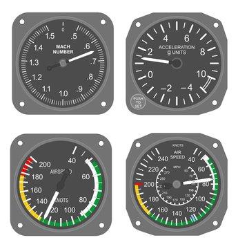 Aircraft instruments set #3