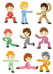 cartoon chinese Kung fu icon