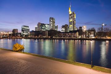 River Main at Frankfurt at Night