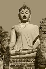buddha image in thai temple.