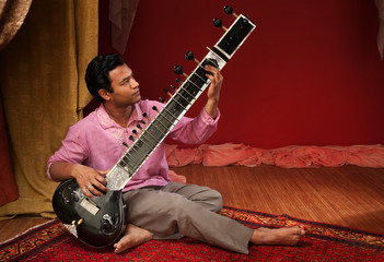 Handsome Sitar Player
