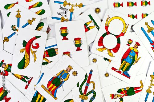 Carte napoletane immagini e fotografie royalty free su for Due di bastoni carte napoletane