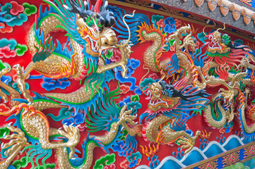 Chinese Dragon sculpture.