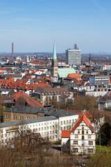 Blick auf Bielefeld mit Altstädter Nicolaikirche