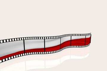 Farbfilm - Fahne  Polen