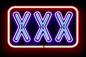 """""""XXX"""" Neon Sign"""