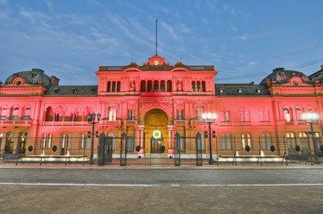 Türaufkleber Buenos Aires Casa Rosada building facade located at Mayo square.