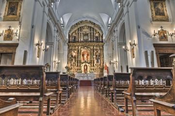 Del Pilar church interior located in Recoleta neighborhood