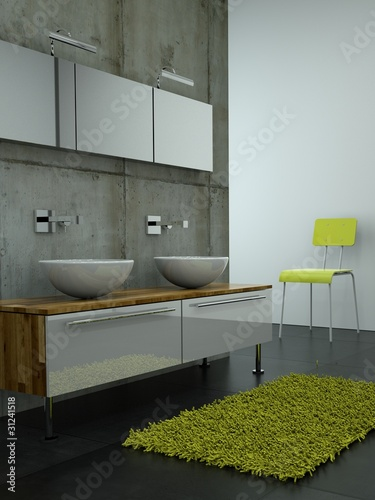 3d rendering badschrank mit waschbecken pic 31241518. Black Bedroom Furniture Sets. Home Design Ideas