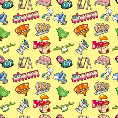 seamless playground pattern
