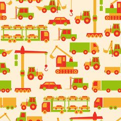 Cartoon cars pattern