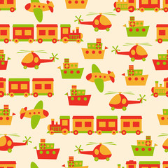 Toys pattern seamless