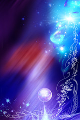 Background with decorative elements